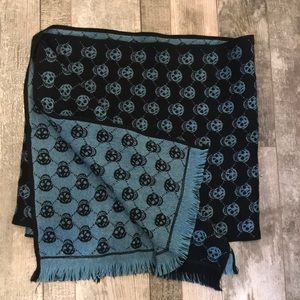ALEXANDER MCQUEEN Wool double sided scarf